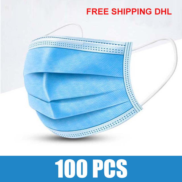 Disposable Protective Mask 3 Layer anti-Virus Bacterial Dust-proof Anti Pollution Mouth Masks Non-Woven Face Mask 20/50/100PCS