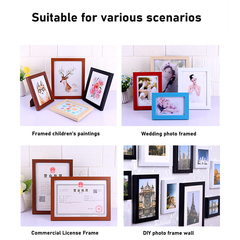 Nordic Style Wooden Painting Frames Creative Picture A4 A3 Black White Wood Color Wall Photo Poster Frame Modern Decoration Super Offer 2fec Cicig