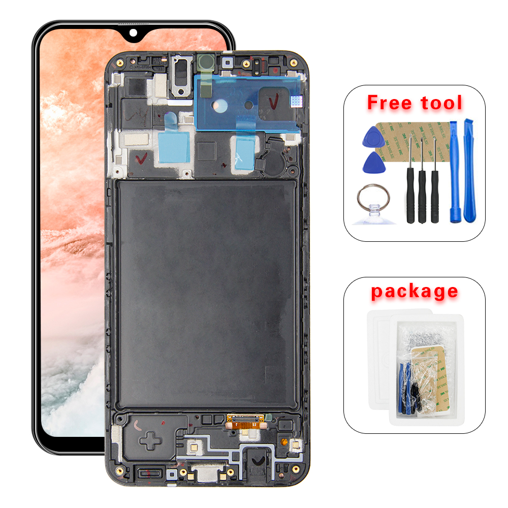 For Samsung Galaxy A20 A205G/DS A205F/DS A205GN/DS SM-A205FN/DS Lcd Display Touch Screen Digitizer Assembly +Frame