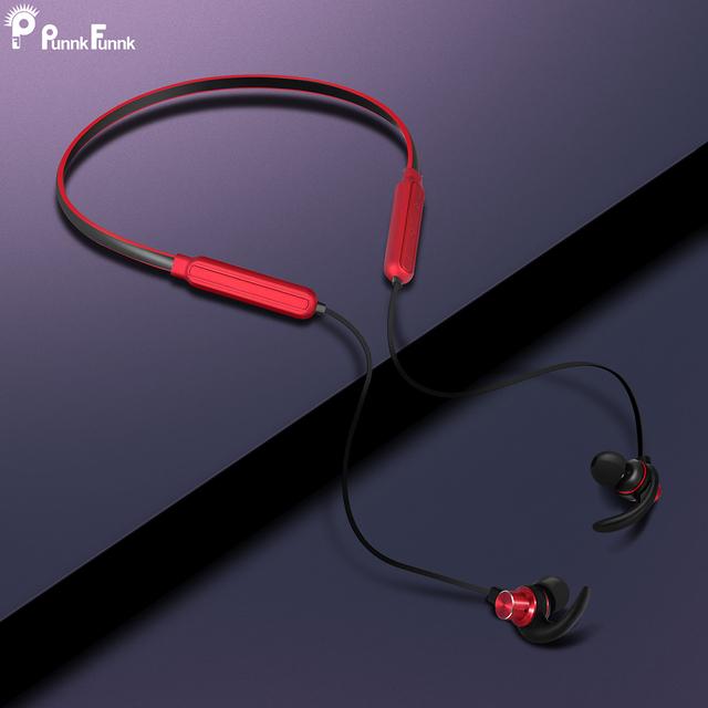 PunnkFunnk Bluetooth Earphones Wireless Neck Headphones Bluetooth 5.0 Magnetic Bass Stereo headsets auriculares fone de ouvido
