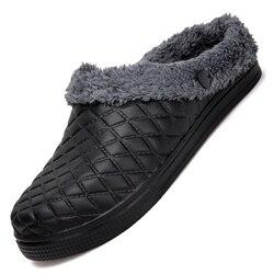 Homens de inverno de Algodão Chinelos Casais De Pelúcia Chinelos Quentes Interior Mulas Tamancos Sapatos Chinelos Chinelos Ocos Chaussures de Coton