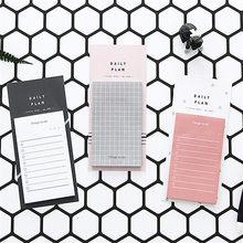 50 folhas simples bloco de notas caderno para fazer lista diário planejador memorando notas pegajosas artigos de papelaria escola material de escritório planejador adesivos