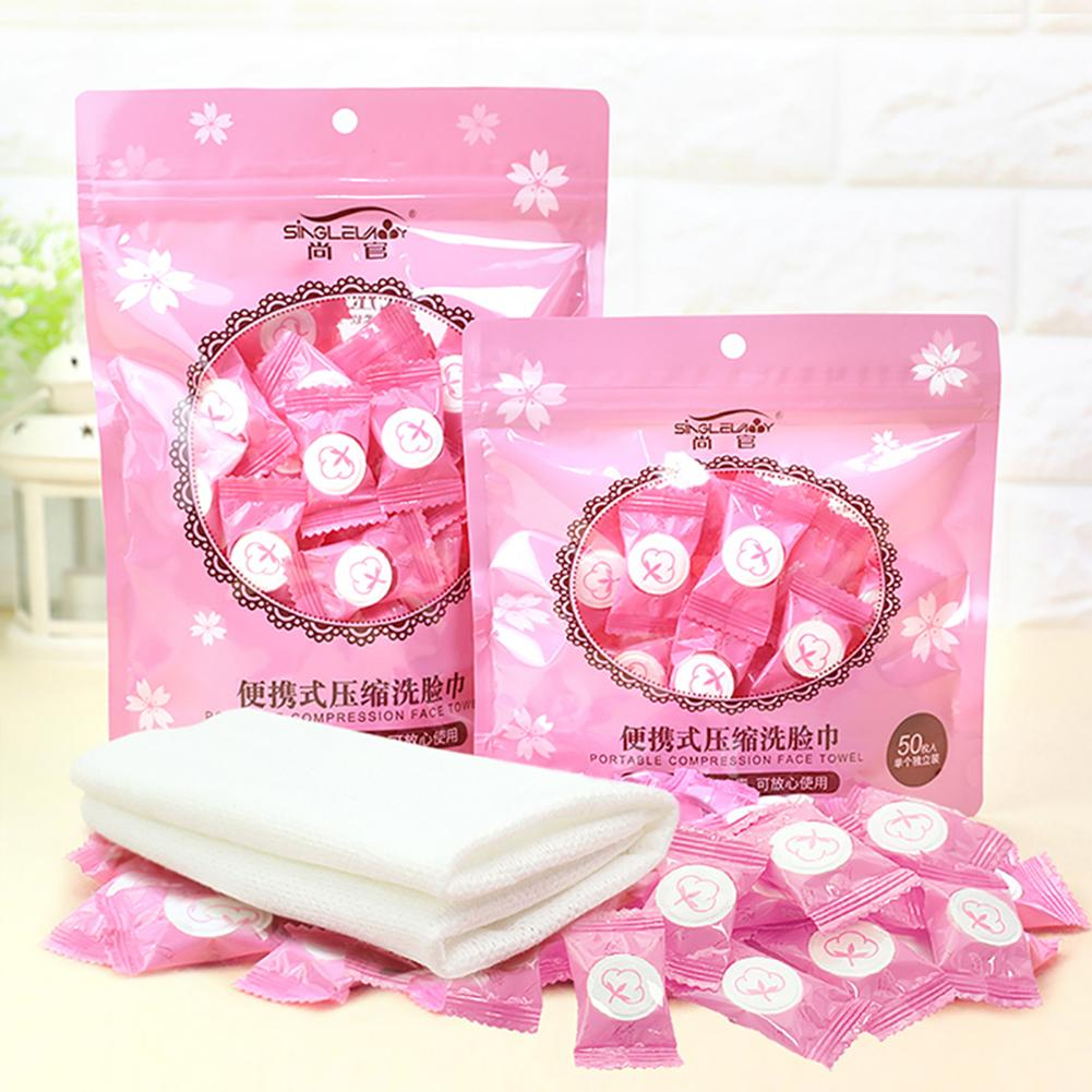 Magic Outdoor Travel 30-100 Sheets Compressed Disposable Towel Tablet Capsules Cloth Wipes Paper Tissue Mask