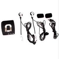 Capacete de moto frente a trás interfone fone de ouvido plástico modificado motocicleta capacete interfone fones de ouvido acessórios