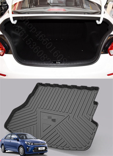 Puou Non-Slip Waterproof For KIA PEGAS 2017-19 Mat Rear Trunk Liner Cargo Floor Tray Carpet Guard Protector Car Accessorie