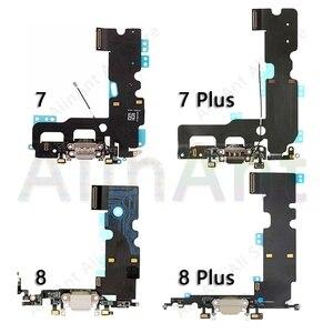 Image 2 - AiinAnt המקורי USB יציאת מטען Dock מחבר מיקרופון טעינת Flex כבל עבור iPhone 7 8 בתוספת Xs מקסימום X XR dock טעינה להגמיש