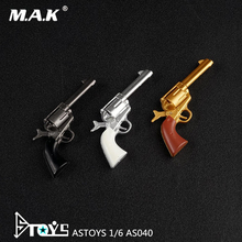 1/6 Solider Accessoty Colt Revolver Pistol Gun Weapon Model Black/Silver/Gold Color for 12 '' Action Figure