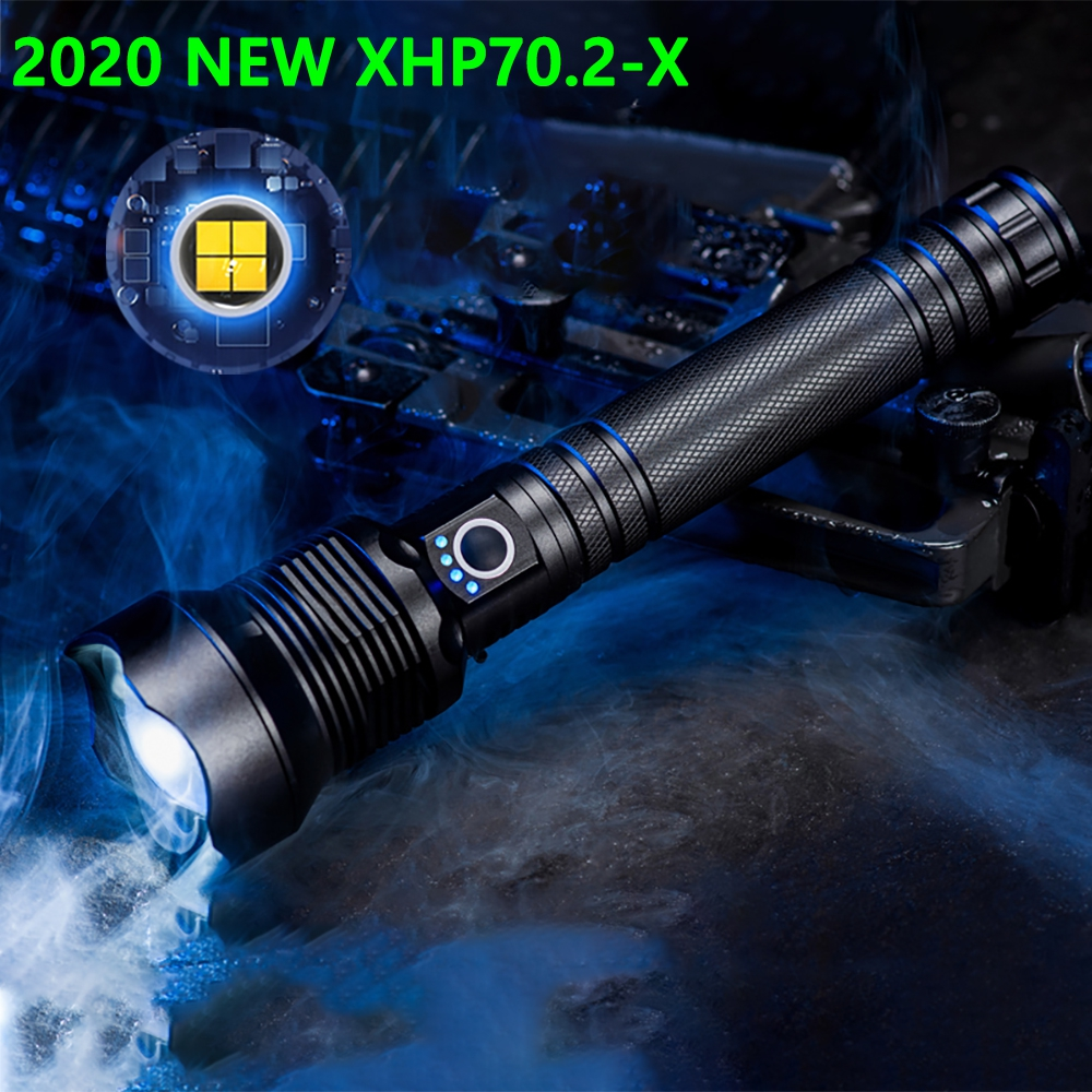 2020 New XHP70.2 Most Powerful Led Flashlight USB Led Torch XHP70 XHP50 Rechargeable Tactical Flash Light 18650 26650 Hand Lamp