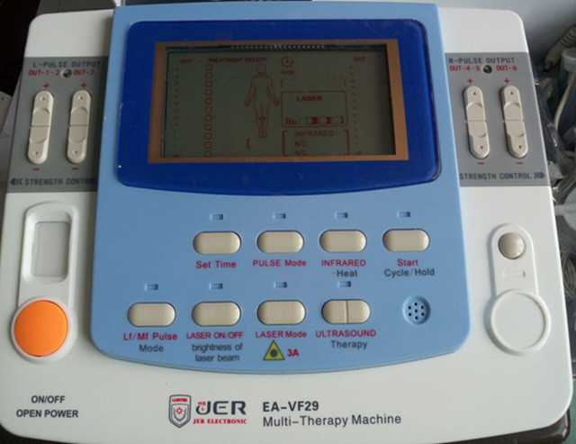 low frequency 9 channels multi physiotherapy therapy ultrasound tens ems machine with laser,heating ,e-cup EA-F29