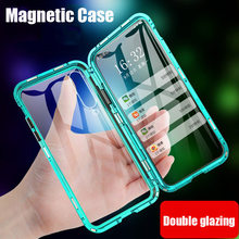 Double Side 360 Adsorpsi Magnetik Glass Case untuk Xiao Mi Merah Mi K20 Note 8 7 10 8T Pro 8A untuk Mi 8 9 Se CC9 A2 A3 Lite 9T Cover(China)