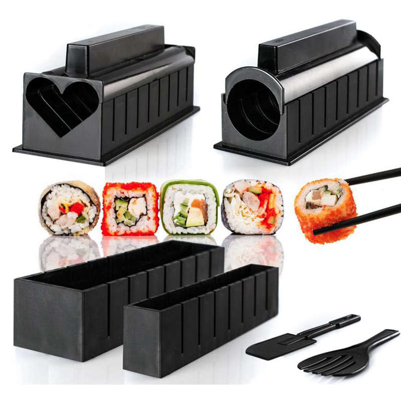 Mold Sushi-Maker Rice-Mould-Kits Bento-Accessories Kitchen Tools Onigiri Diy 10-Pics/Set title=