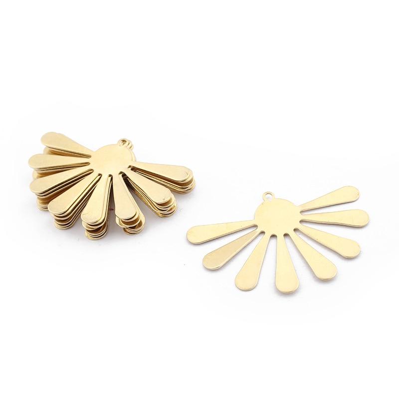 6 pcs  raw brass  plating gold round pendant finding round brass pendant filigree finding