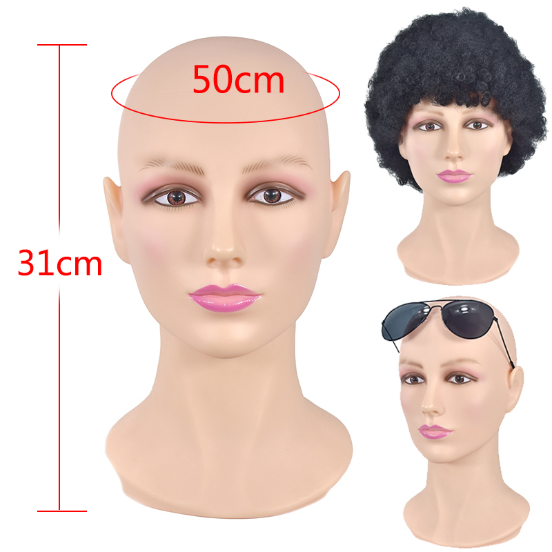 Mannequin Head With PVC Material For Wigs Hats Mask Headset Glasses Display Mannequin Dummy Manikin Head