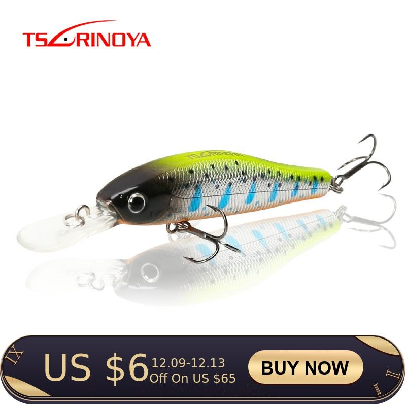 TSURINOYA Fishing Lure DW49 65mm 5.5g Suspend Minnow Depth 1m Magnet Centrifugal Minnow Floating Lure