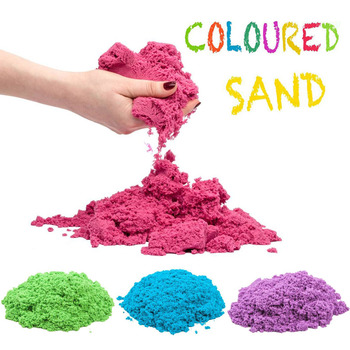 100g/Bag Magic kinetic sand Molding Kit Clay Super Colored Soft Slime Space Play Sand Antistress Supplies Educational Toys set 100g dynamic sand toys educational colored soft magic slime space sand supplie indoor arena play sand kids toys for kids