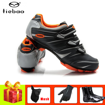 TIEBAO sapatilha ciclismo mtb cycling shoes winter mtb bicycle gloves waterproof riding bike mask sneakers mountain bike shoes