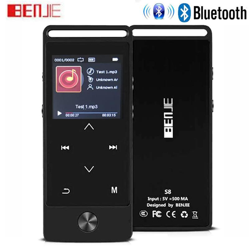 BENJIE-S8 Latest Version Touch Bluetooth MP3 Music Player Lossless Sound Supports FM Radio Micro SD Card Long Playback Time image