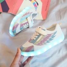 Light Shoes Rechargeable Girls Kids Summer Children Wing ULKNN USB Colorful