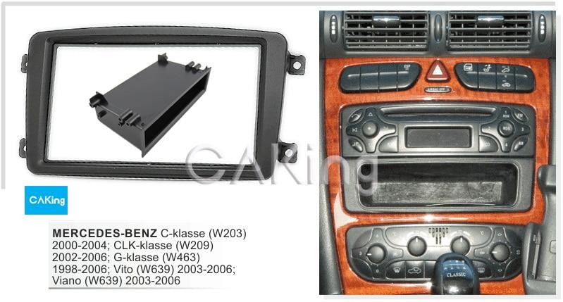 W209 CLK-Klasse W639 G-Klasse CARAV 40-108 * 2-DIN car head unit fascia facia installation dash kit for C-Klasse W203 W463 Viano Vito
