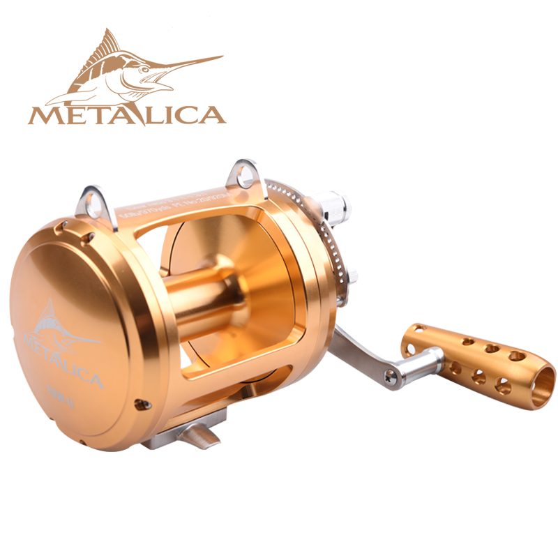 METALICA Trolling Wheels 30W-II/50W-II/80W-II 8+1BB Drum Reels Casting Large Model Full Metal Deep Sea Iron Boat Fishing Reel