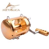 METALICA trolling wheels 30W II/50W II/80W II 8+1BB Drum Reels Casting Large Model Full Metal Deep Sea Iron Boat Fishing Reel