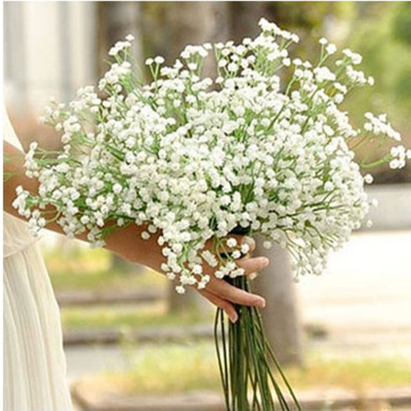 1PCS 56cm White Artificial Flower Interspersion Mantianxing Decor For Home Table Wedding Flower Plastic Gypsophila Fake Flowers
