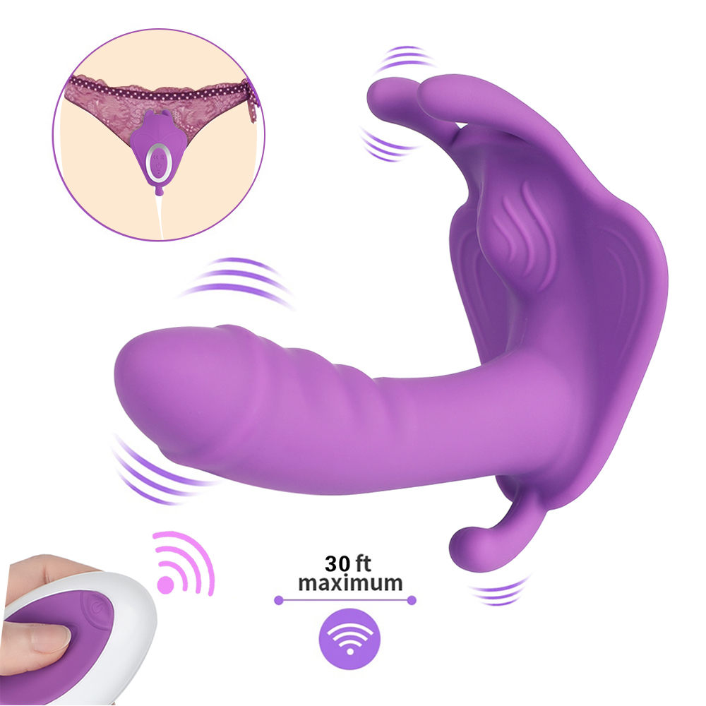 Wireless Remote <font><b>Panty</b></font> <font><b>Dildo</b></font> <font><b>Vibrator</b></font> Wearable <font><b>Butterfly</b></font> Anal <font><b>Vibrator</b></font> Vaginal Anus Stimulator For Female Masturbation <font><b>Sex</b></font> <font><b>Toys</b></font> image