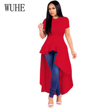 WUHE Irregular Ruffles Sexy Long Maxi Christmas Dress Women Elegant Short Sleeve Hollow Out Bodycon Night Party