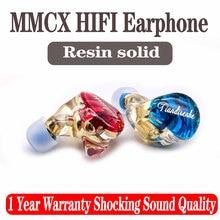 Mmcx fone de ouvido feito sob encomenda, fone de ouvido feito sob encomenda, resina sólida hifi, estrela, esporte, palco, substituível, cabo mmcx para shure se215 se535 ue900 fone de ouvido