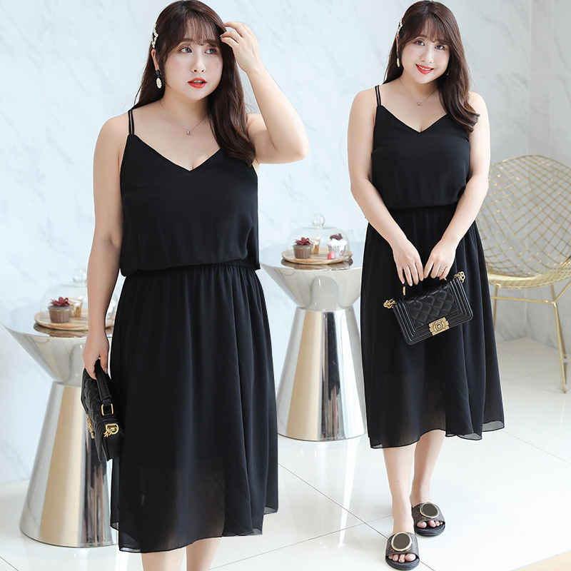 [Xuan Chen] Large GIRL'S Romantic Vacation Style Dress Summer New Style Plus-sized Skirt A Generation Of Fat 1816