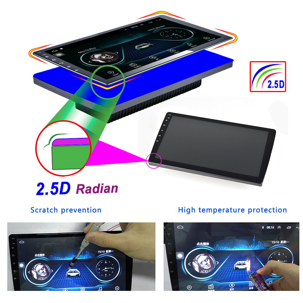 """Image 2 - Podofo 2din car radio 10.1""""inch Android8.0 system Auto stereo 2.5D Screen Bluetooth WIFI GPS Quad Core 1+16grom For Universal-in Car Multimedia Player from Automobiles & Motorcycles"""