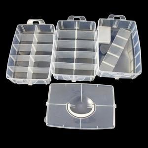 Image 3 - 大収納容器 30 調節可能なコンパートメント容器スレッド縫製刺繍アクセサリーボビン格納するビーズ