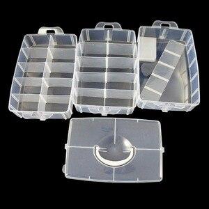 Image 3 - Grand conteneur de rangement avec 30 compartiments ajustables, conteneur pour rangement de fils, accessoires de broderie, bobines et perles