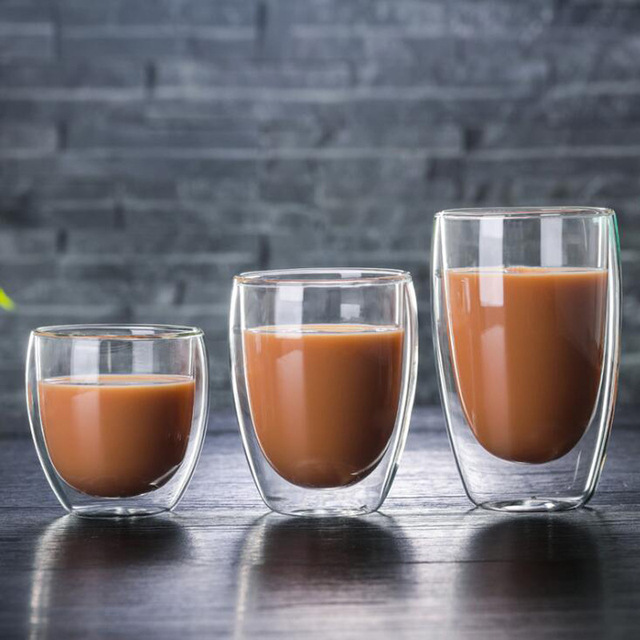 Verre design double paroi en verre Tasses et Mugs Cocooning.net
