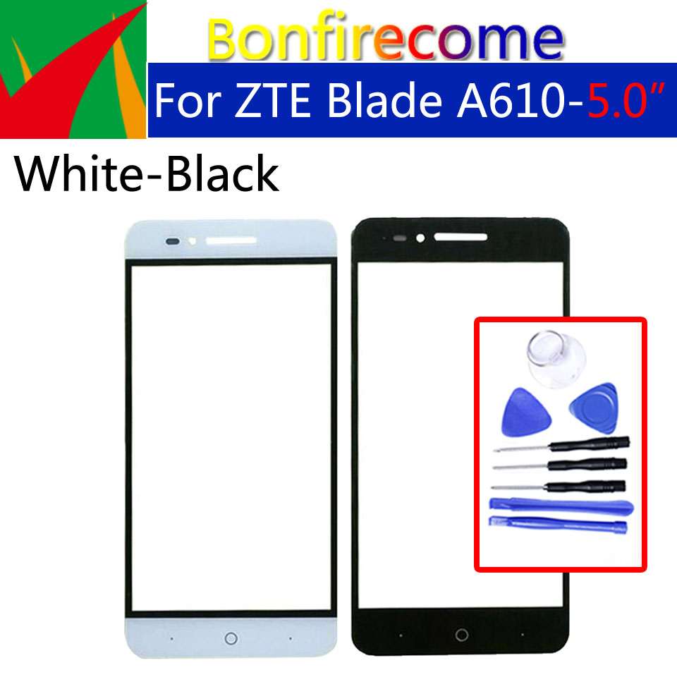 For ZTE A610 A610C BA610 TD-LTE Touch Screen Panel Digitizer Sensor display Front Glass Outer Touchscreen Replacement(China)