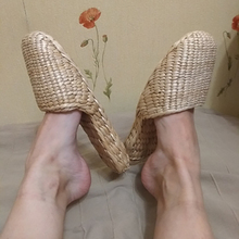 Couple Shoes Straw-Slippers Chinese Sandals Summer Ms. AGESEA Handmade Men's Unisex New
