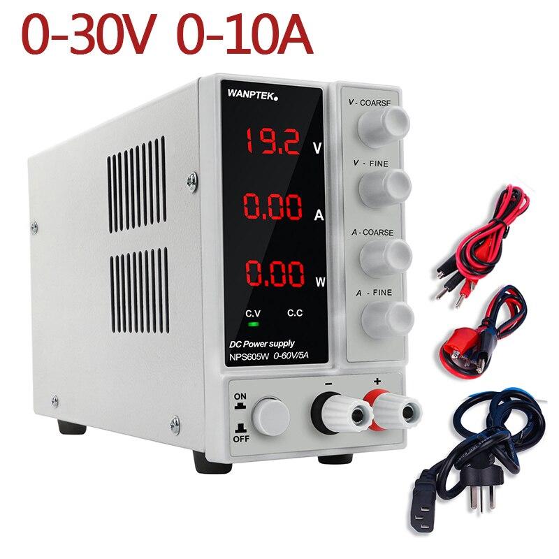 NPS3010W laboratoire alimentation 30V10A régulateur de courant interrupteur alimentation réglable tension régulateur banc Source numérique