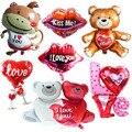 Я люблю тебя с надписью «Kiss Me» («поцелуй губы Love фольгированный шар на День святого Валентина украшения свадебные Юбилей надувной шар для по...