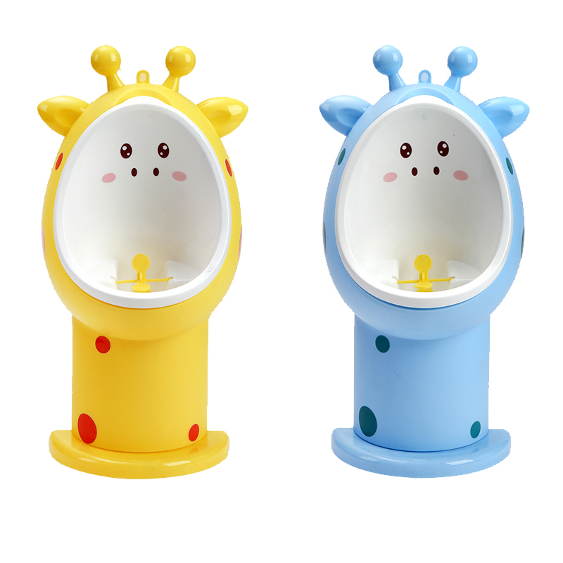 Baby Boy Giraffe Children Infant Toddler Potty Cups Wall-Mounted Urinals Toilet Training Children Stand Vertical Urinal Boys Pee