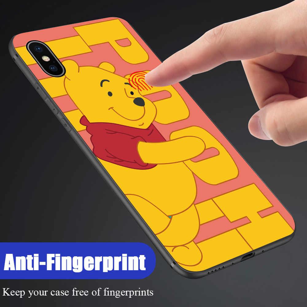 Untuk Huawei Y5 Y6 2018 Honor 7S 8S 7A 8A Lucu Kartun Anime Mouse Bear Shockproof Casing lembut Silikon TPU Case Cover