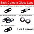 Задняя камера стеклянная линза для Huawei P Smart Plus Pro Z S 2019 2020 стеклянная линза для камеры с наклейкой запасные части