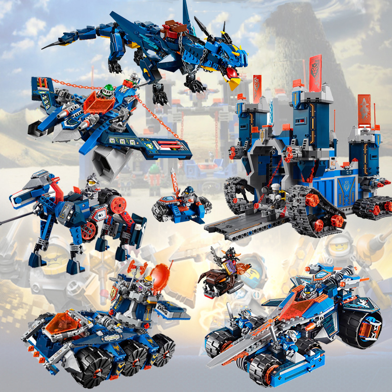 For <font><b>Legoing</b></font> Ninjagoes Movie Future Knights Knighton <font><b>Castle</b></font> Wars Tank Compatible <font><b>Dragon</b></font> Knight Ninja Figures Building Blocks Toys image