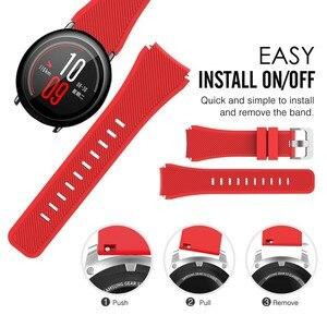 Image 5 - צבעוני שעון להקת רצועת לxiaomi Huami Amazfit קצב סיליקון צמיד יד בנד עבור Amazfit 2/2S סטרטוס קצב שעון רצועה