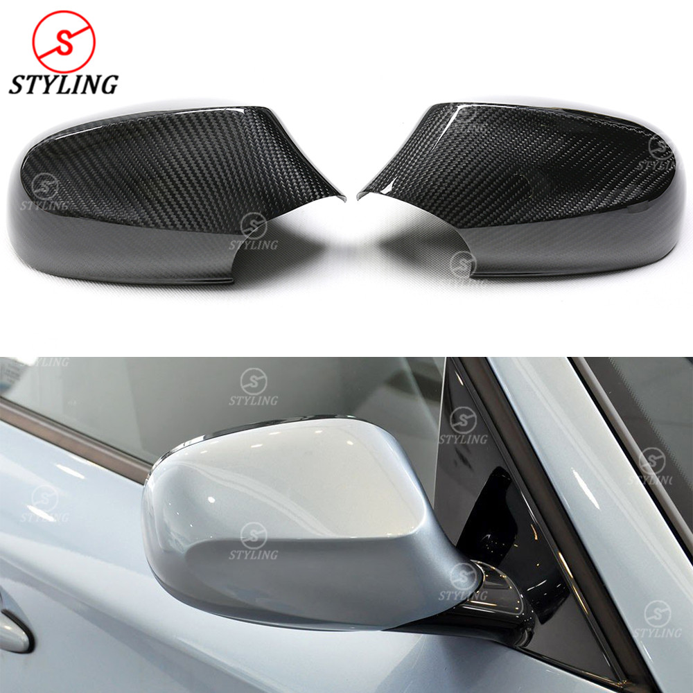 E87 Carbon Fiber mirror cover For <font><b>BMW</b></font> <font><b>135i</b></font> <font><b>E82</b></font> 120i side rearview mirror cover 1 Series Pre-Lci & Lci 2007 2008 2009 2010 2011 image