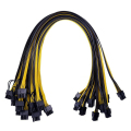 6 stücke TISHRIC 50cm 6pin zu 8pin Power Kabel PCIE Riser Power Kabel PCI PCIE Miner Riser Kabel Express adapter Netzteil Kabel