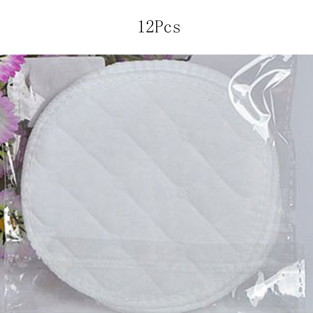 12pcs Reusable Nursing Breast Pads Organic Plain Washable Soft 3 Layers Cotton Absorbent Feeding Baby Breastfeeding Accessory