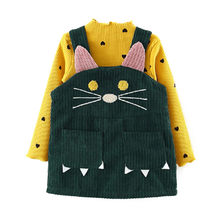 Baby Girls Clothes Toddler Infant Baby Girls Knit Tops Suspender Skirt Slip Dress Overalls Outfits Winter Newborn Clothes Suit(China)