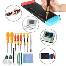 купить 17 in 1 Triwing Screwdriver Game Bit Repair Tool Kit Full Security for Nintendo Switch JoyCon Wii NES SNES DS Lite GBA Gamecube дешево