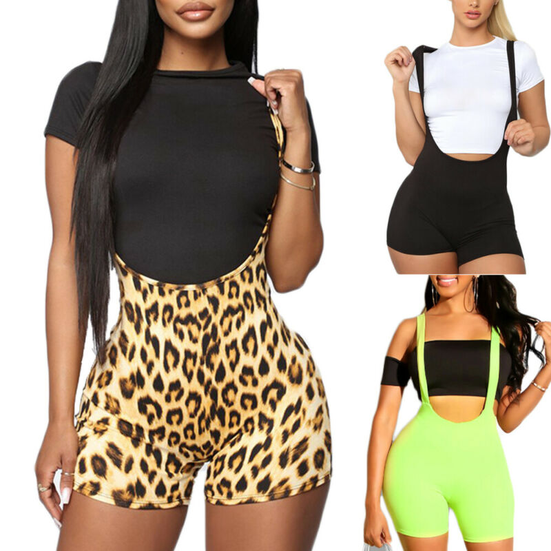 Women Sexy Straps Jumpsuit Casual Short Bib Pants Overalls Rompers Trousers Hot