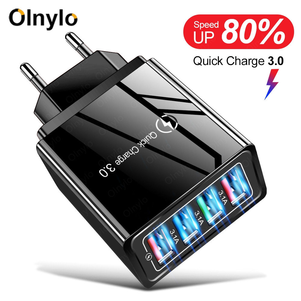 USB Charger Quick Charge 3.0 For Phone Adapter For iPhone 11 Huawei Tablet Portable EU/US Plug Wall Mobile Charger Fast Charging